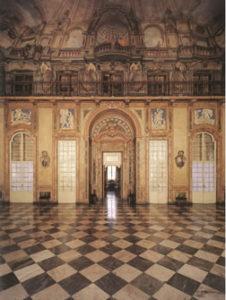 Il progetto originario è dell'architetto Carlo di Castellamonte. In seguito il progetto fu portato avanti da Benedetto Alfieri che dal 1739 fu nominato Regio Architetto