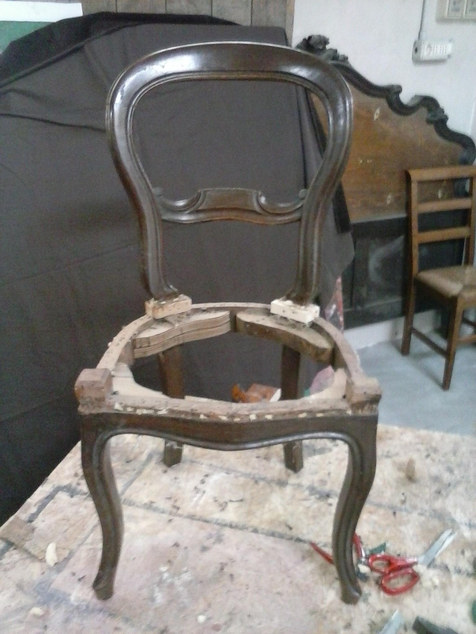 Restauro sedia Luigi Filippo • RESTAURO E SCULTURA