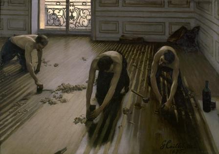 """Raschiatori di parquet"" Gustave Caillebotte al Museo d'Orsay"