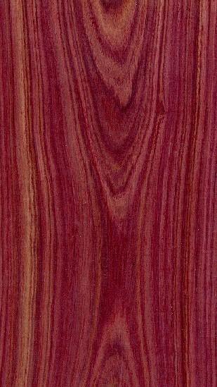 Esempio di palissandro conosciuto come bois de rose o rose wood.