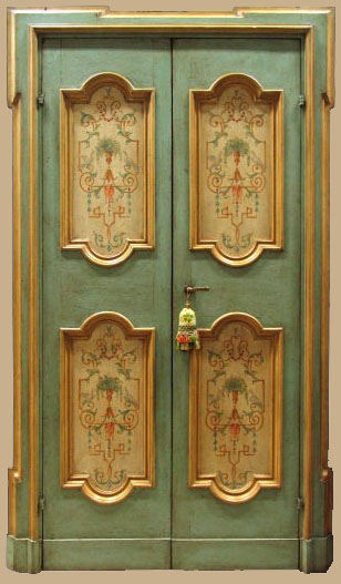 Porta interna laccata restaurata
