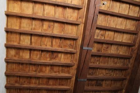 Restauro soffitto a cassettoni in legno
