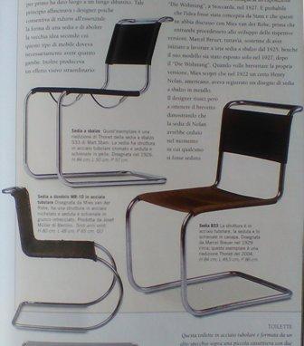 Mobile moderno: la sediaa sbalzo con acciaio tubolare