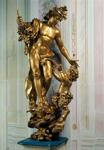 Statua in legno dorata di Parodi